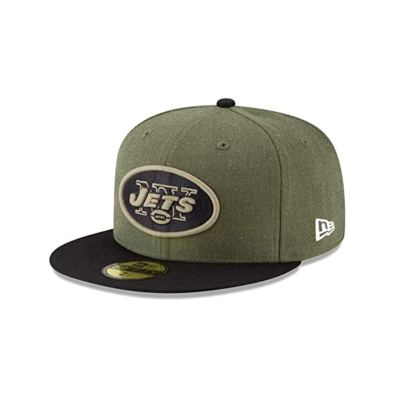New Era New York Jets 59fifty Basecap On Field 2018 Salute to Service   Amazon.co.uk  Clothing a1ceceeb6