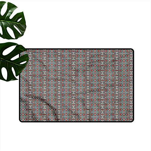 DUCKIL Door mat Geometric Hourglass Pattern All Season General W30 xL39 (Ornate Hourglass)