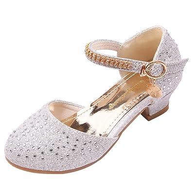 Iypurkmn 女の子 フォーマル靴 ピアノ発表会 演奏会 結婚式 パーティー用 滑り止め ドレス