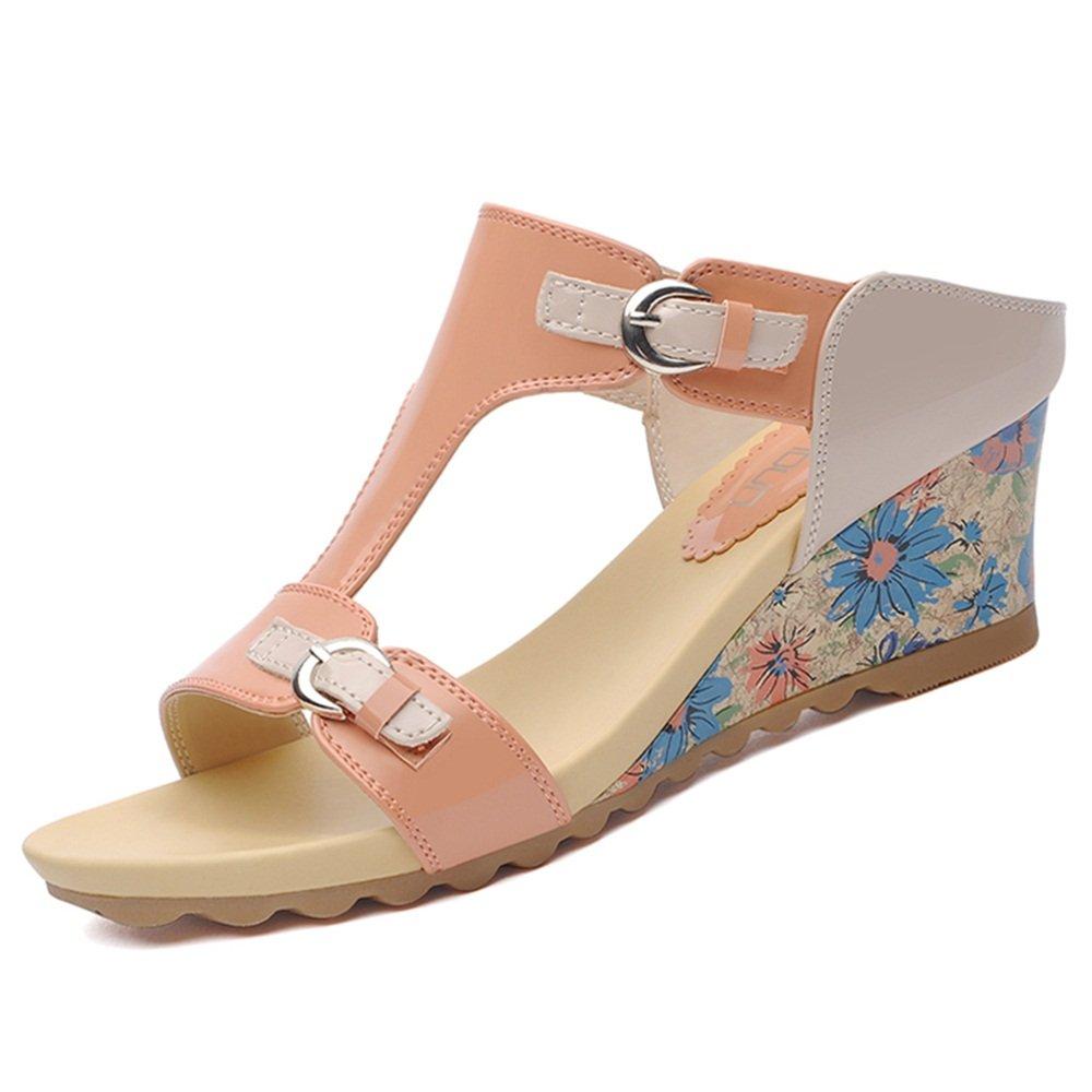 Zapatillas ZHANGRONG- Sandalias de cuña de la Plataforma de la Moda Femenina Temporada de Verano (Color : B, Tamaño : EU36/UK3.5/CN35)