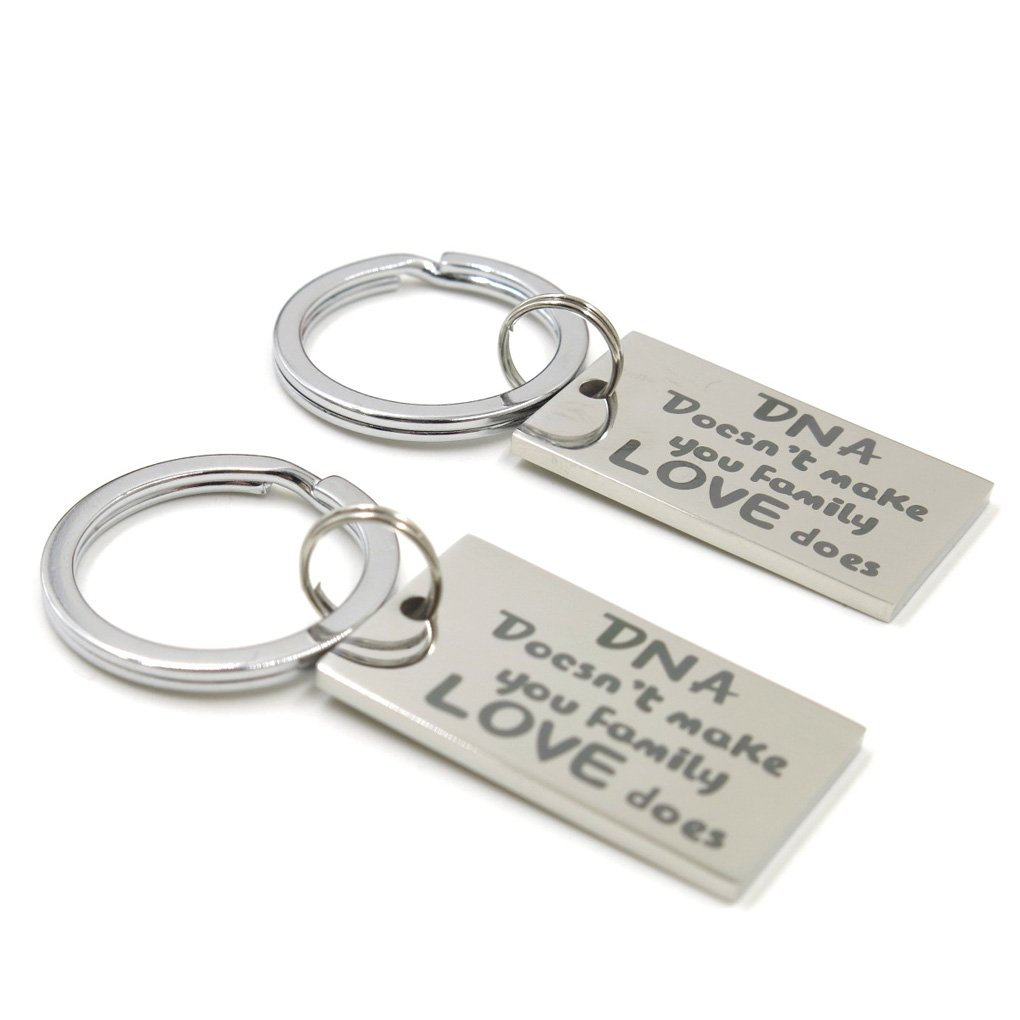 Elefan Cornelia Gift DNA Doesn't Make You Family,Love Does Keychain for Family(2 Pieces)