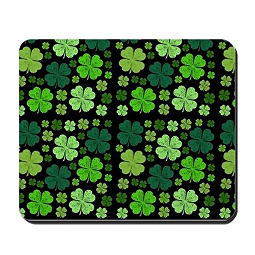 cafepress-saint-patricks-day-four-leaf-clovers-green-mous-non-slip-rubber-mousepad-gaming-mouse-pad