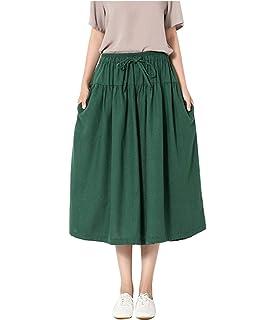 Femme Pantalons Large Taille Haute Plier avec Cordon De Serrage Pantalon  Ete Fashion Large Fille Vêtements fbb22521ae8a