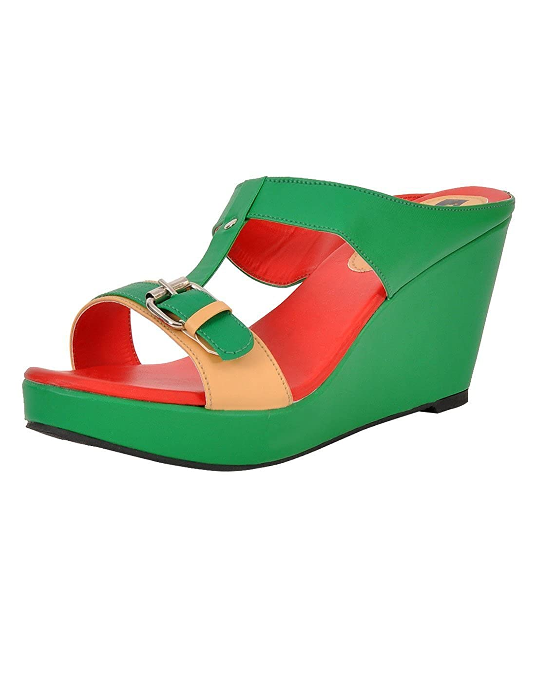 3ea4bf3a60337 Yepme Women's Green Wedges YPWFOOT8743_8 UK: Buy Online at Low Prices in  India - Amazon.in