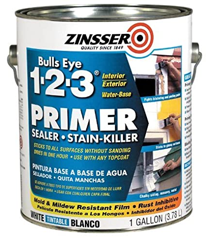 Rust-Oleum Corporation 02001 Water Base Primer, 1-Gallon, White by Zinsser