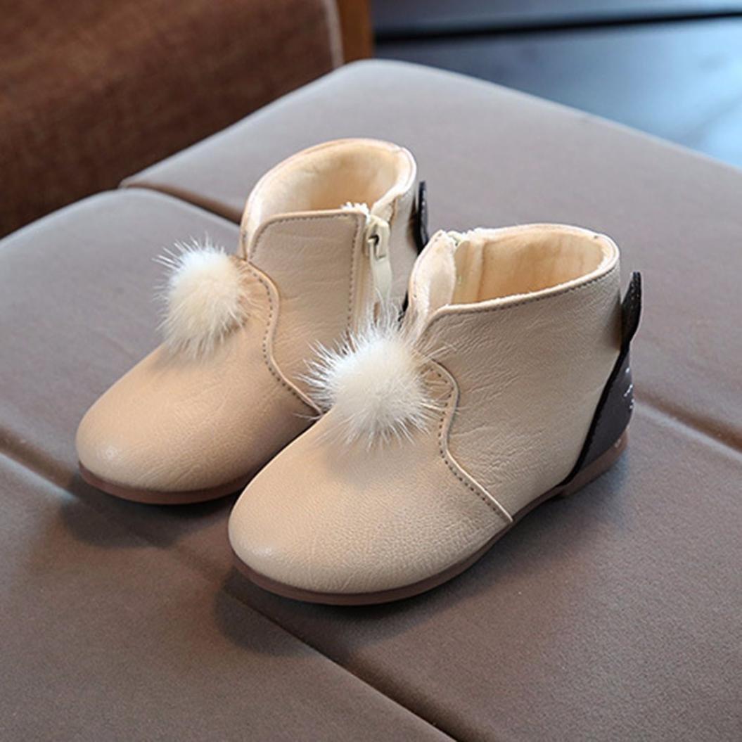 60359264a Bovake Baby Kids Snow Boots Toddler Newborn Hard Soft Sole Anti-Skid ...