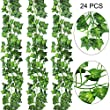 AGEOMET 24 PCS Fake Ivys Artificial Ivys Greenery Garlands Hanging for Wedding Party Garden Wall Decoration(79 inch Each)