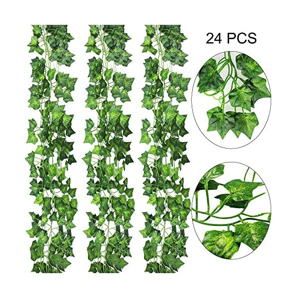 AGEOMET-24-PCS-Fake-Ivys-Artificial-Ivys-Greenery-Garlands-Hanging-for-Wedding-Party-Garden-Wall-Decoration79-inch-Each