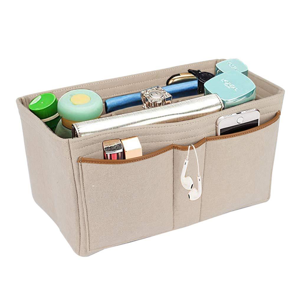 Lantop Felt Insert bag Organizer purse Shaper compatible with Speedy Neverfull