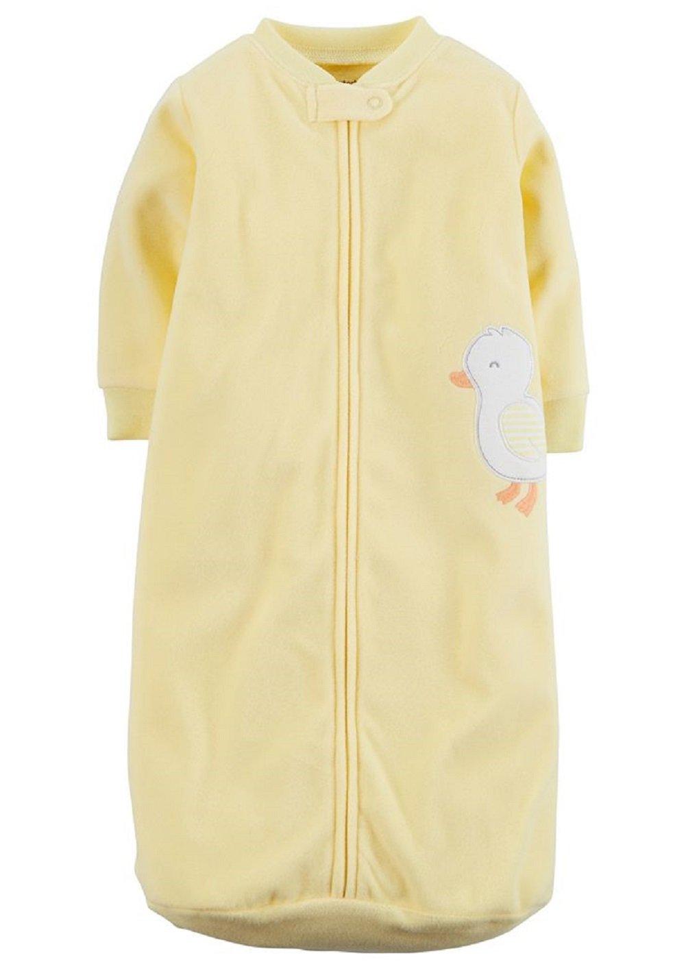 Amazon Carters Yellow Applique Fleece Sleepsuit Sleepsack 0 9 Months Baby