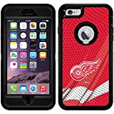 Detroit Red Wings - Home Jersey design on Black OtterBox Defender Series Case for iPhone 6 Plus and iPhone 6s Plus