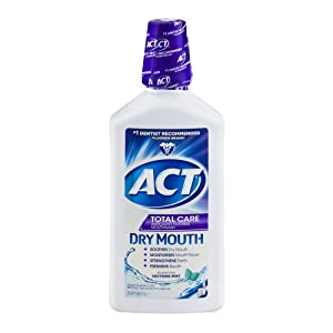 ACT Total Care Dry Mouth Anticavity Fluoride Mouthwash Soothing Mint 33.80 oz (Pack of 4)