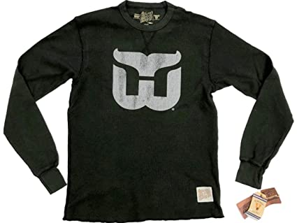 301facbc2 Hartford Whalers Retro Brand Green Lightweight Waffle Pullover T-Shirt (S)