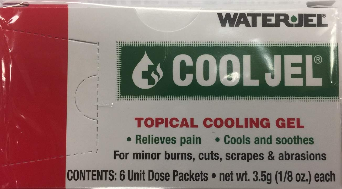 CoolJel Topical Cooling Jel Waterjel 6 Unit Dose Packets 1/8 oz