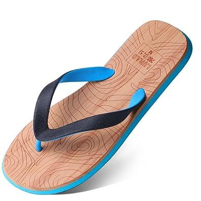 ee8c89133512 Homme Tongs Sandales Mules Plage Surf Veinure Sport Ultra-Léger Enfilage  Facile Antidérapant Slippers Plage