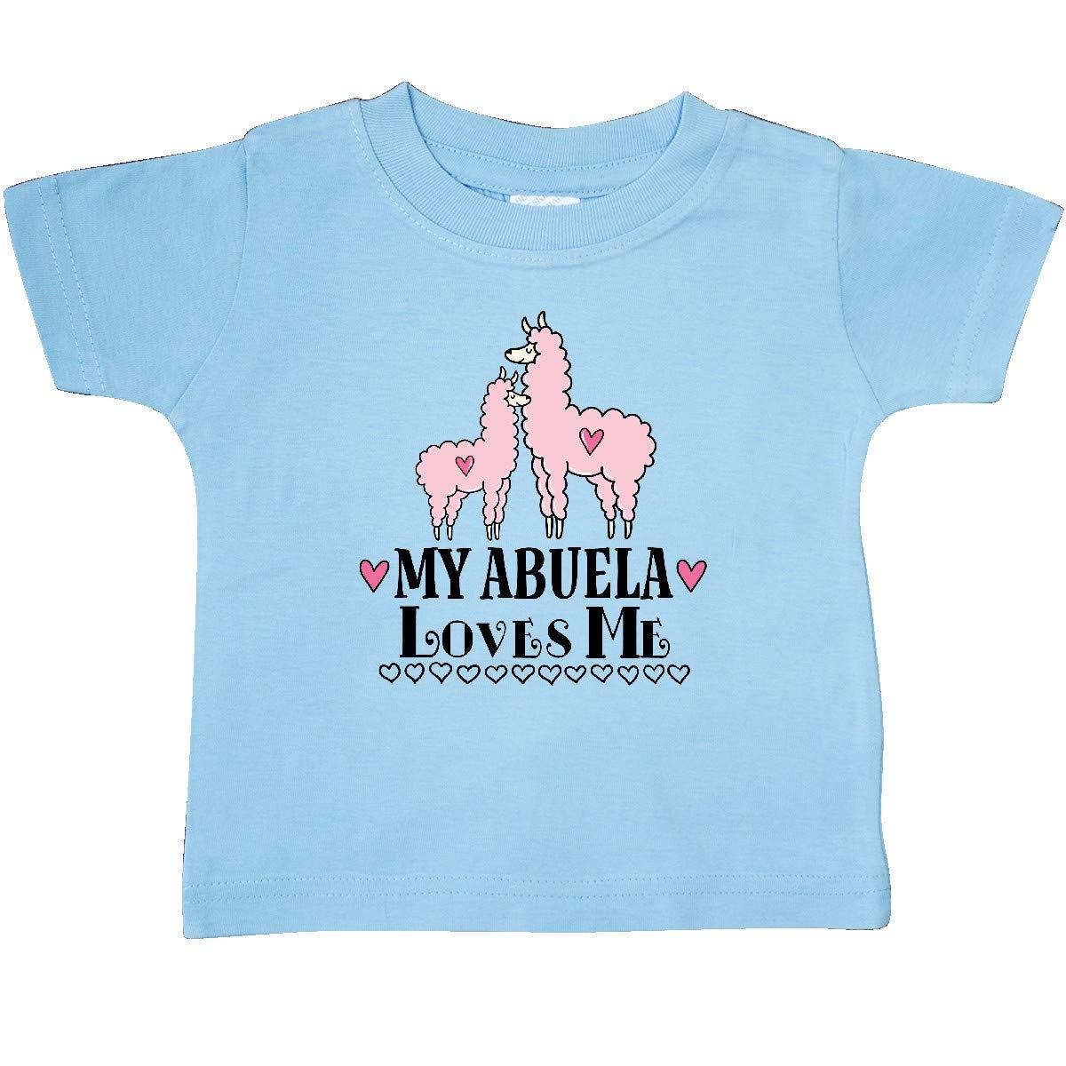 inktastic My Abuela Loves Me Grandma Llama Baby T-Shirt