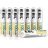 EBL 1100mAh AAA Ni-MH 1200 Ciclo de Pilas Recargables para los Equipos Domésticos con Estuches de Almacenamiento (8…