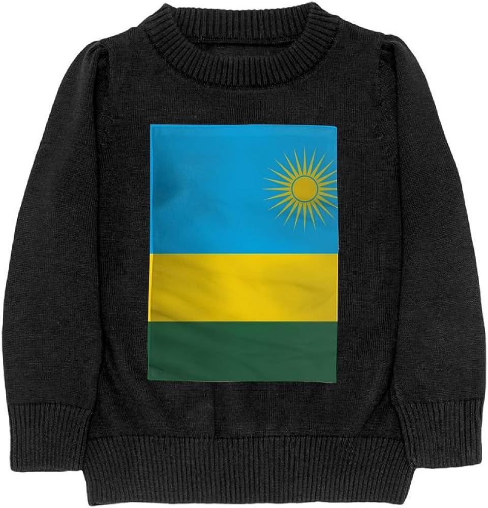 DTMN7 Flag Of Rwanda Teens Sweater Long Sleeves Crew-Neck Youth Athletic Casual Tee Junior Boys