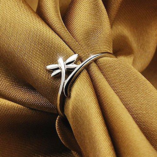 Fashmond- Bague libellule ouverte ajustable femme fille- Argent fin 925- Cadeau Saint Valentin Anniversaire