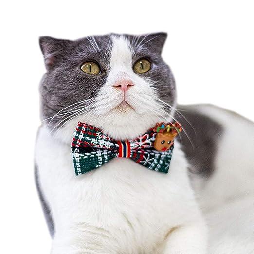 CHEN. Navidad del Gato de Cuello-Decoración del Gato Corbata de ...