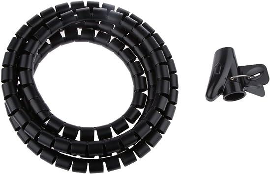 Organizador de Cable Tubo Flexible en Espiral Evuelto para ...