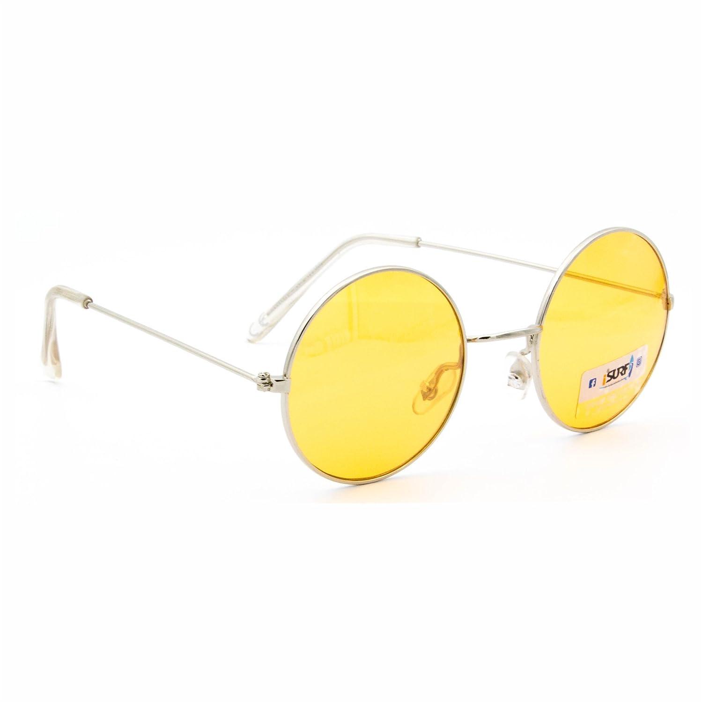 Occhiali Da Sole E Da Vista Marca Isurf Eyewear Modello Hippy Smal Round Vestibilita' Molto Piccola John Lennon Rotondi Tondi . (specchio Argento) Kkuu6eR