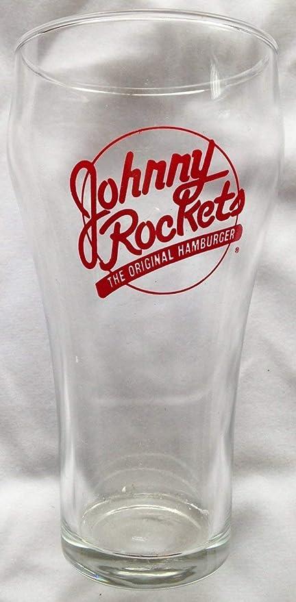 "Johnny Rockets The Original Hamburger 5"" Drinking Glasses Lot of 4"