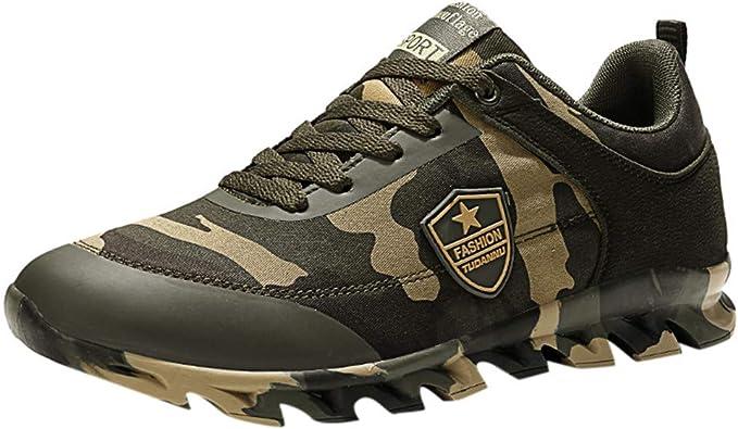 LANSKIRT Zapatos Hombre Zapatillas Deportivos Casuales con ...
