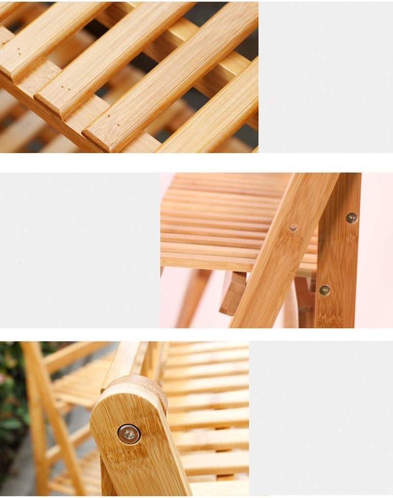 Estante 3 Capas de Marco de bambú, Soporte de la Flor, balcón del Piso, Soporte de la Planta de Interior, Escalera de Madera sólida, Multifuncional Opcional Caja de Almacenamiento: Amazon.es: Hogar