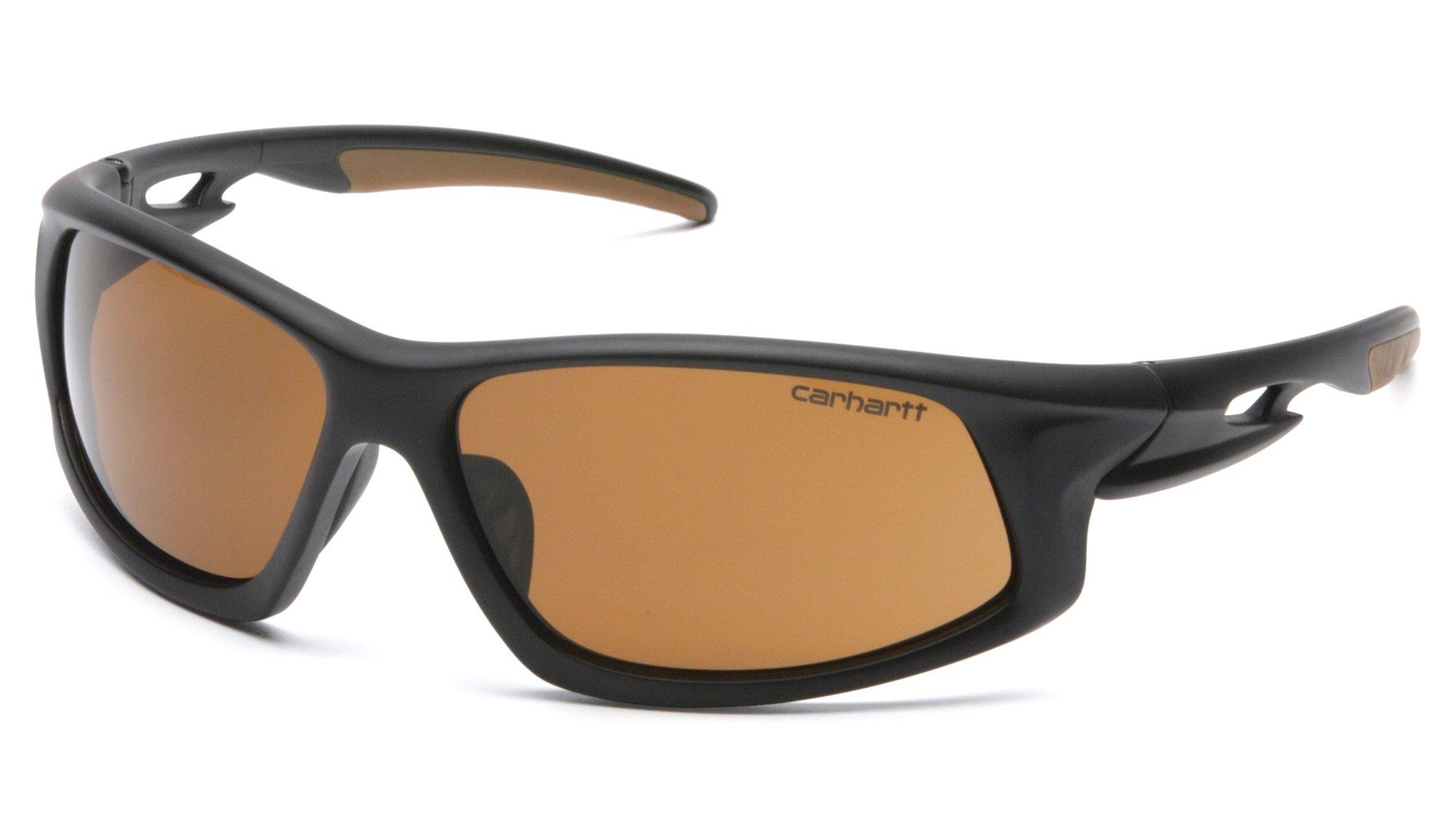 Carhartt CHB618DT Ironside SAFETY Glasses, Black/Tan Frame, Sandstone Bronze Anti-Fog Lens