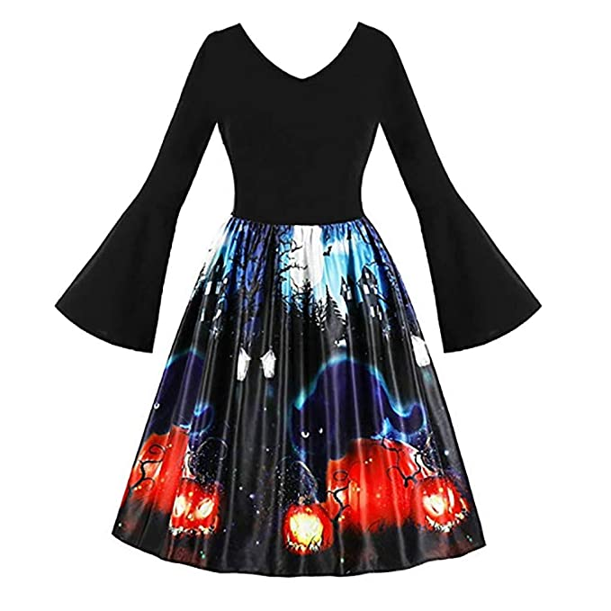 Hotkey Halloween Dresses for Women Plus Size Women Pumpkin ...