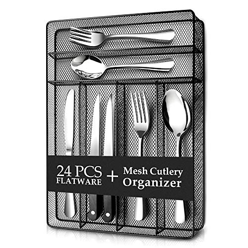 Teivio 24 Piece Silverware Set, ...