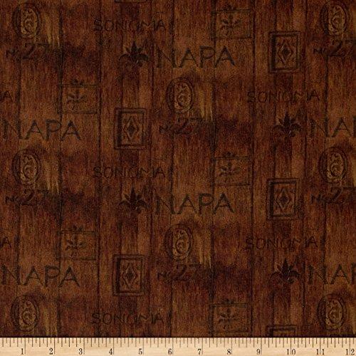 E.E. Schenck Mia Sonoma County Digital Print Wood Slat Brown Fabric By The Yard - Brown Napa Napa Wood