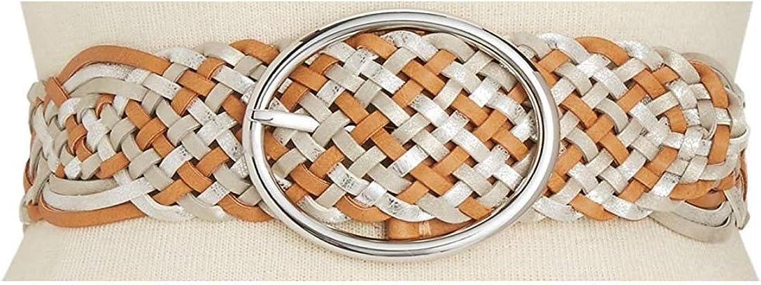 I-N-C Womens Metallic Woven Belt Multicoloured L