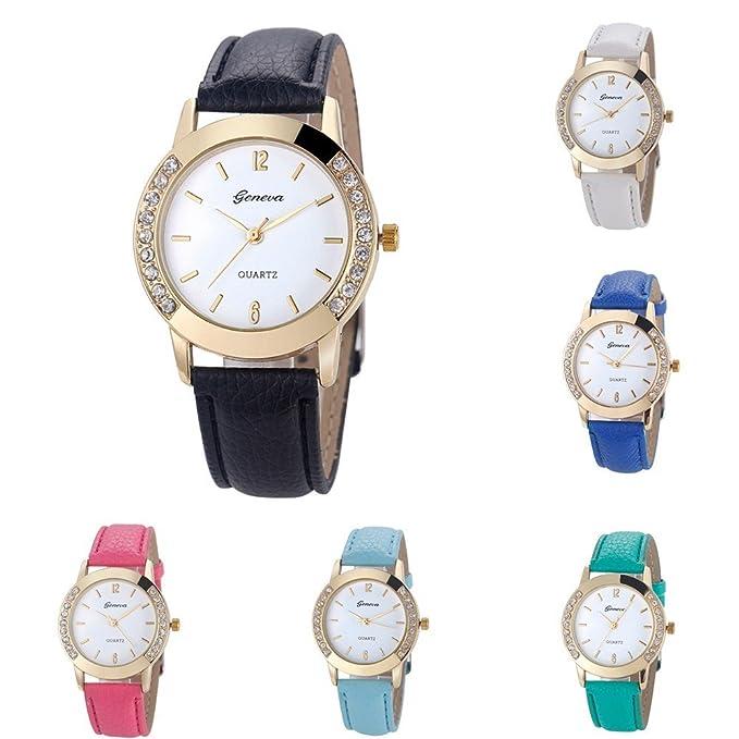 Bestow Reloj de Mujer de Moda Ginebra con Reloj de Diamantes Relojes de Pulsera de Cuarzo