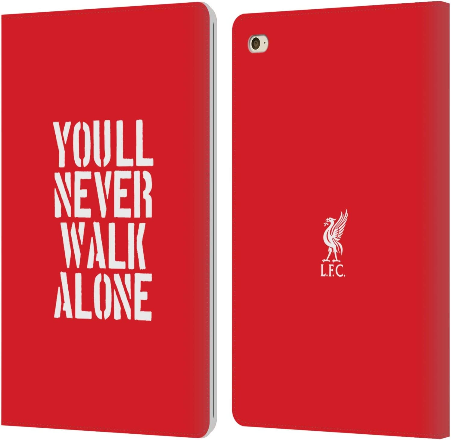 Head Case Designs Officially Licensed Liverpool Football Club Stencil Red Liver Bird YNWA PU Leather Book Wallet Case Cover Compatible with Apple iPad Mini 4