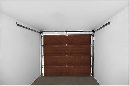 MSW Puerta de Garaje Seccional GD2500 Black Walnut (Abertura 2.500 x 2.125 mm, Juntas resistentes, 4 Secciones) Nogal Negro: Amazon.es: Bricolaje y herramientas