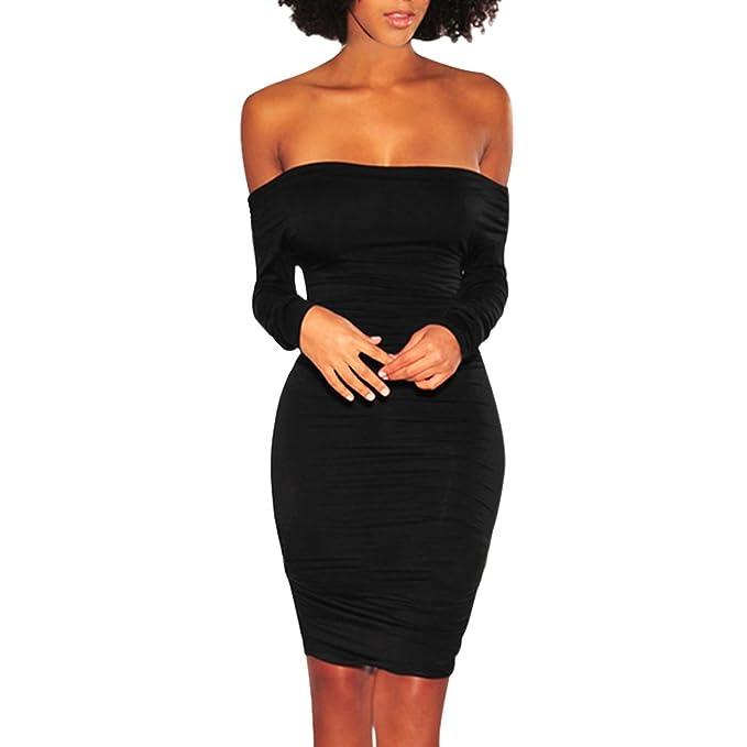 2552438f950b Toocool - Vestito Donna Miniabito Tubino Aderente Spalle Nude Elegante Sexy  DL-2231 [L,Nero]: Amazon.it: Abbigliamento