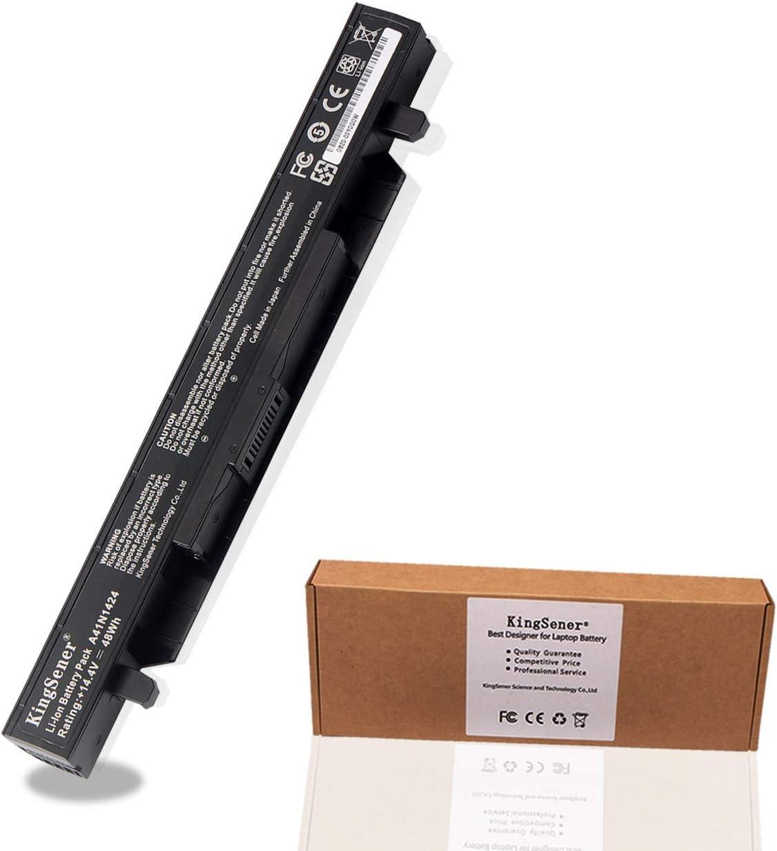 KingSener A41N1424 Laptop Battery for ASUS ASUS (ROG) GL552 GL552V GL552VW GL552J GL552JX ZX50V ZX50VW ZX50JX X50J ZX50 JX4200 JX4720 FX-Plus FX-PRO 6300 6700 14.4V 48WH