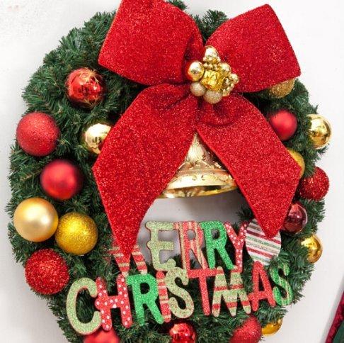 Christmas decorations 4050/60/80cm Christmas wreath decorations christmas shop window decoration (40CM)