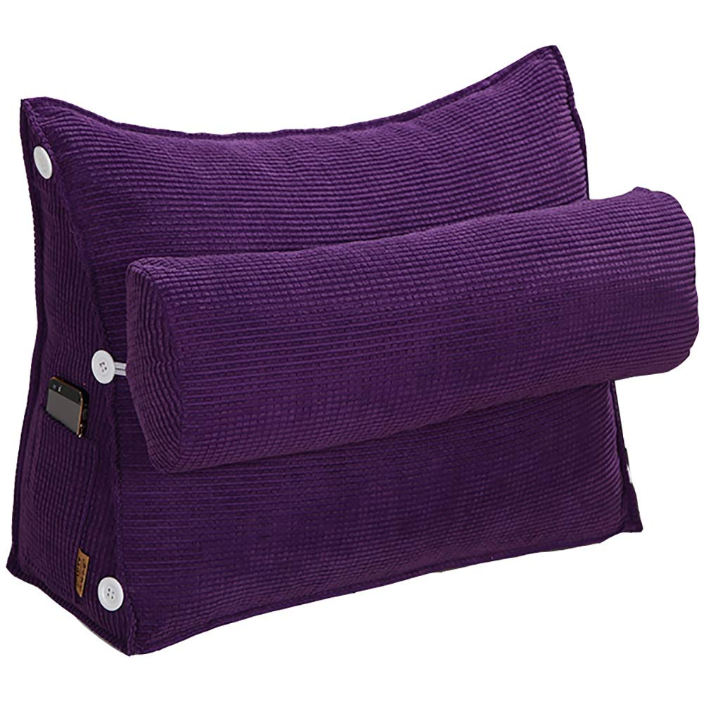 GUOWEI Small Sofa Cushion Pillow Upholstered Triangular (Color : Purple, Size : 60x50cm)