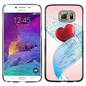 iKiki Tech / Estuche rígido - Love Water Heart - Samsung Galaxy S6 SM-G920
