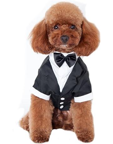 Keysui Pet Dog Clothes Solid-Colored indossare bretelle Business Suit  adatto per primavera e estate c4a89f88583