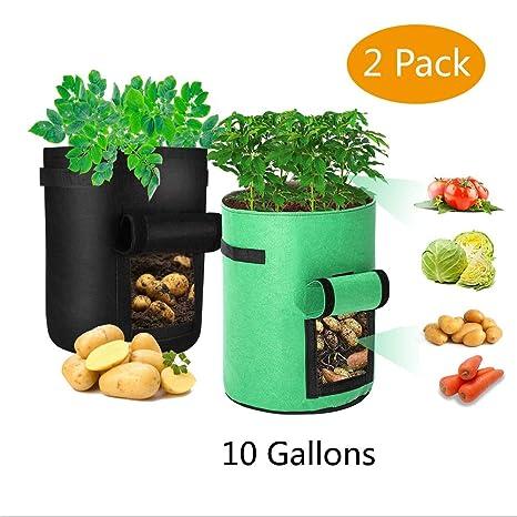 Udream Bolsas de Cultivo de Patata, 2 Paquetes de 10 galones ...