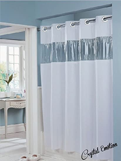 Image Unavailable Not Available For Color Fabric Hookless Shower Curtain