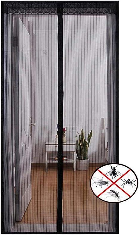 Kootk Puerta Magnetica Cortina - Cortina De Cierre Automatico Defensa Insecto y Mosquito - para Sala De Estar/Cocina/ Dormitorio/Balcon Puerta Corredera - Fácil De Instalar con Velcro (Raya Negra): Amazon.es: Deportes y