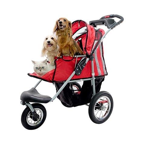 Aoligei Carrito para Mascotas Pet Stroller Carros de la Bala Pueden ser Lavada y Lavable Plegable