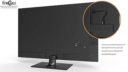 FireCable Plus (Premium Black) - Powers Amazon Fire TV Stick