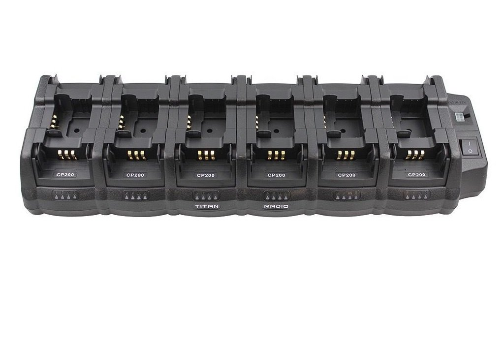 18TRCH Multi Unit Bank Charger for CP200 CP200d CP200XLS PR400 CP140 CP150 & More