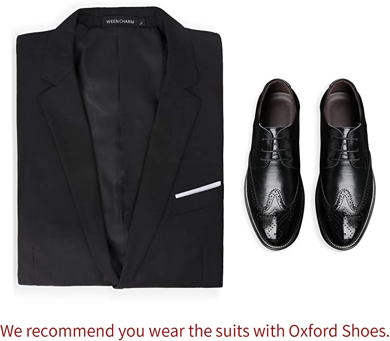 1e2ffb6a7892 WEEN CHARM Mens Suits 2 Button Slim Fit 3 Pieces Suit | Amazon